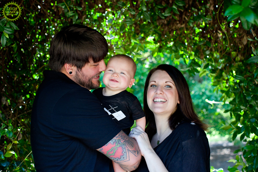 Va Family Portrait Photographer  ~The Sampson Family, featuring Jaxson~  Virginia Tech Arboretum
