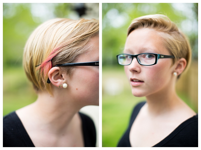Norfolk Teen Photographer  Morgan got a NEW Haircut