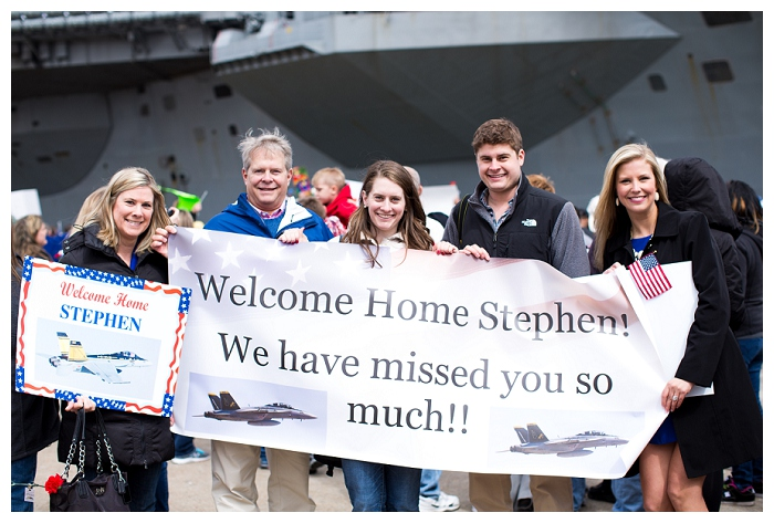 Norfolk Homecoming Photographer  The Truman is HOME!!!