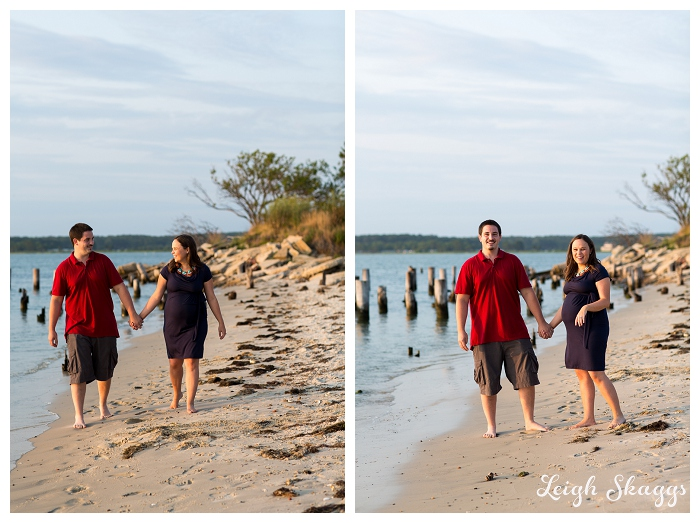 Eastern Shore Cape Charles Maternity Photographer  Claire & Brian are having a Baby!!