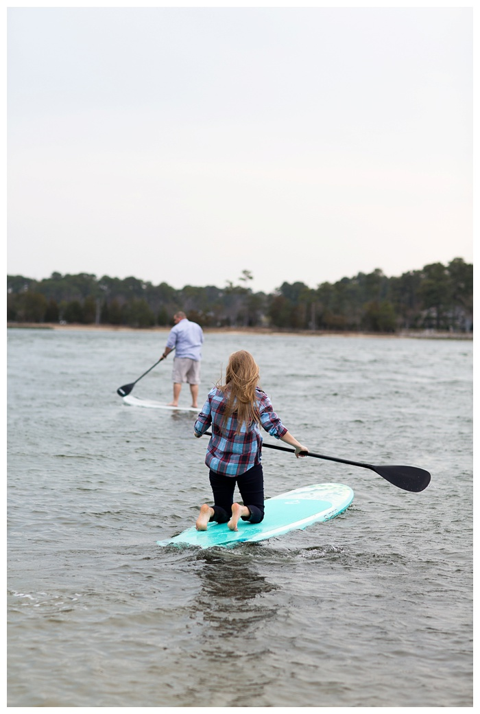 A Paddle Boarding Engagement session at First Landing State Park with Marley and Dave!