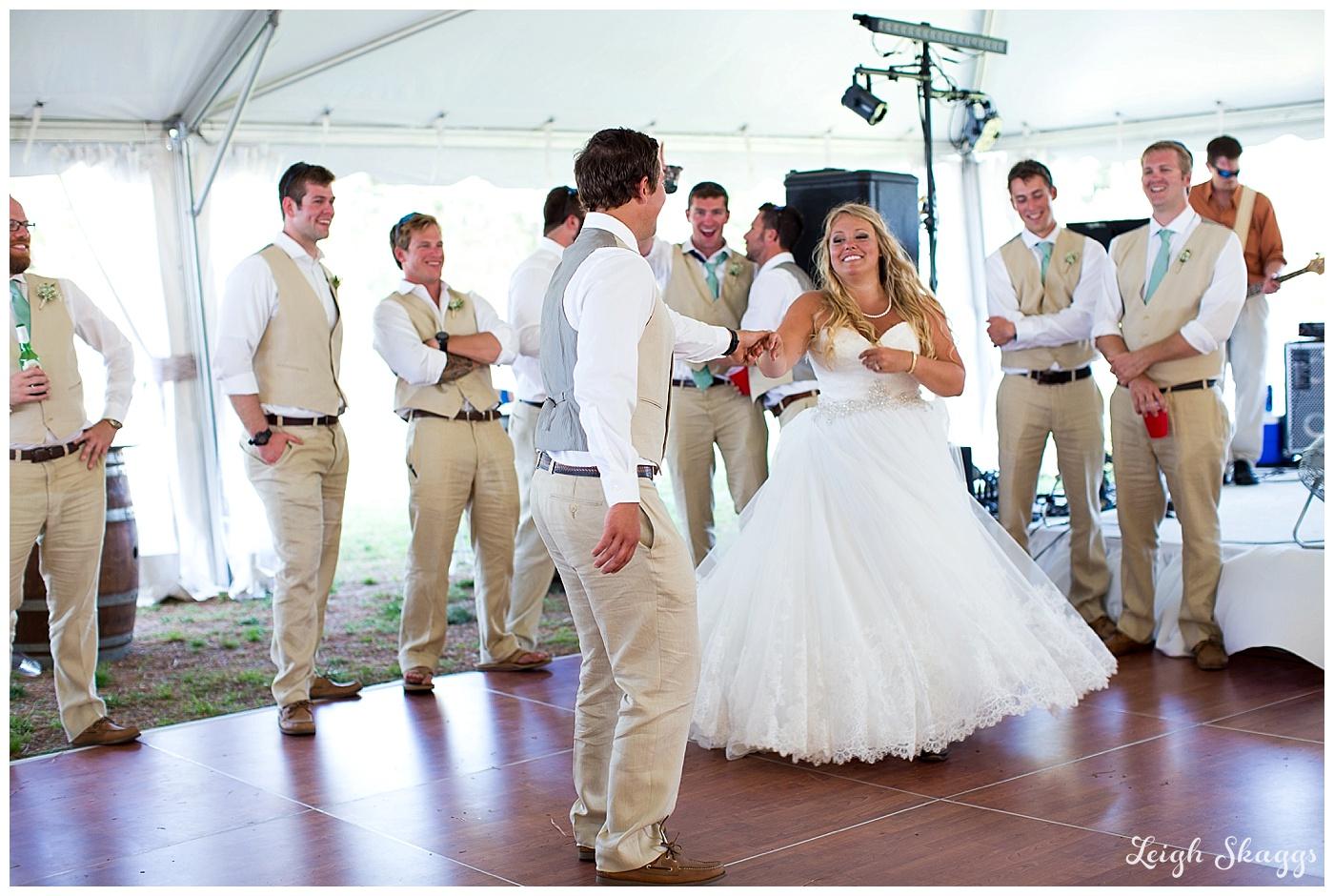 Erin and Jake are Married!  A Sunny Gwynns Island wedding!!