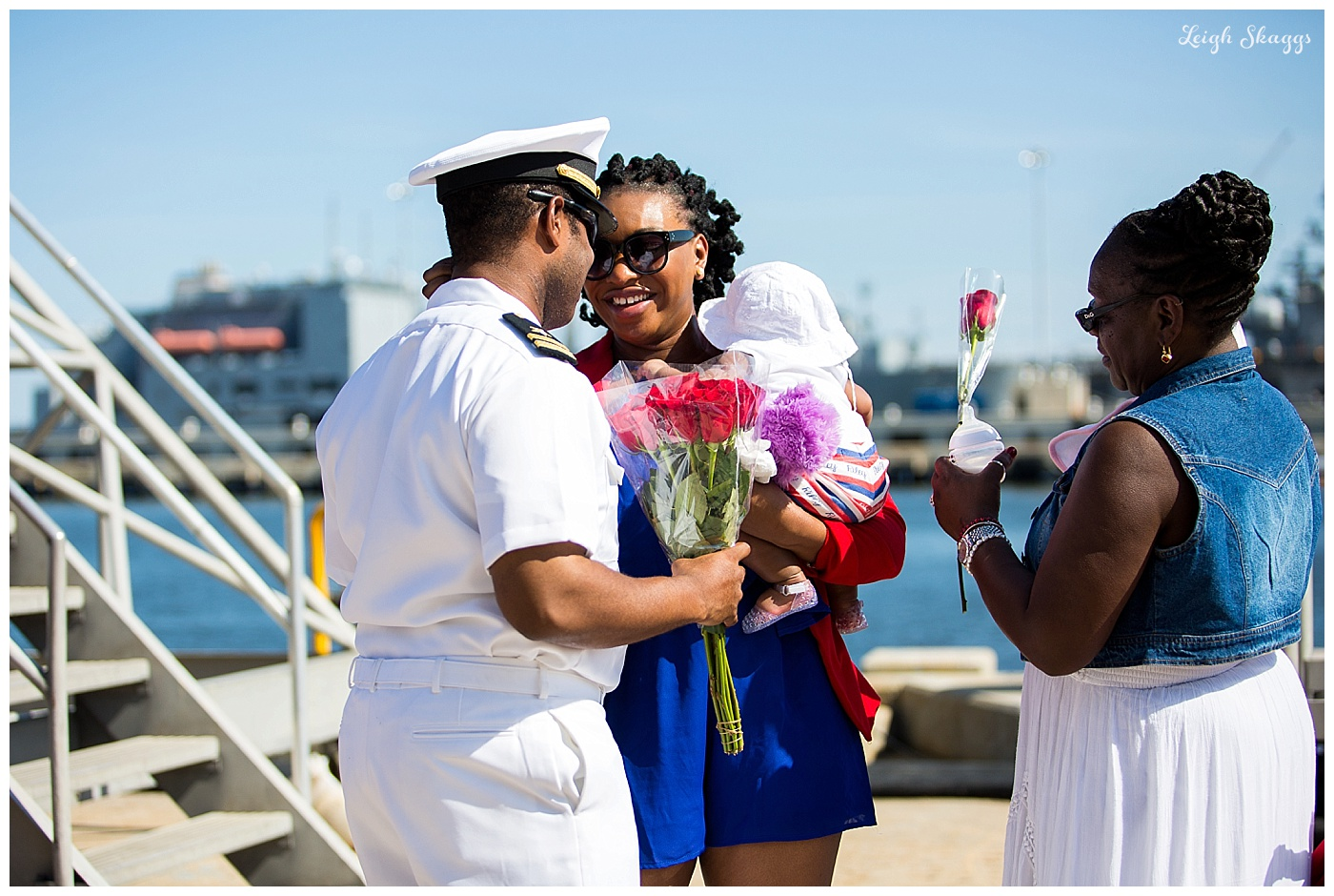 Welcome home USS Oscar Austin!!  So amazing to watch Robert hold his Daughter for the first time!!