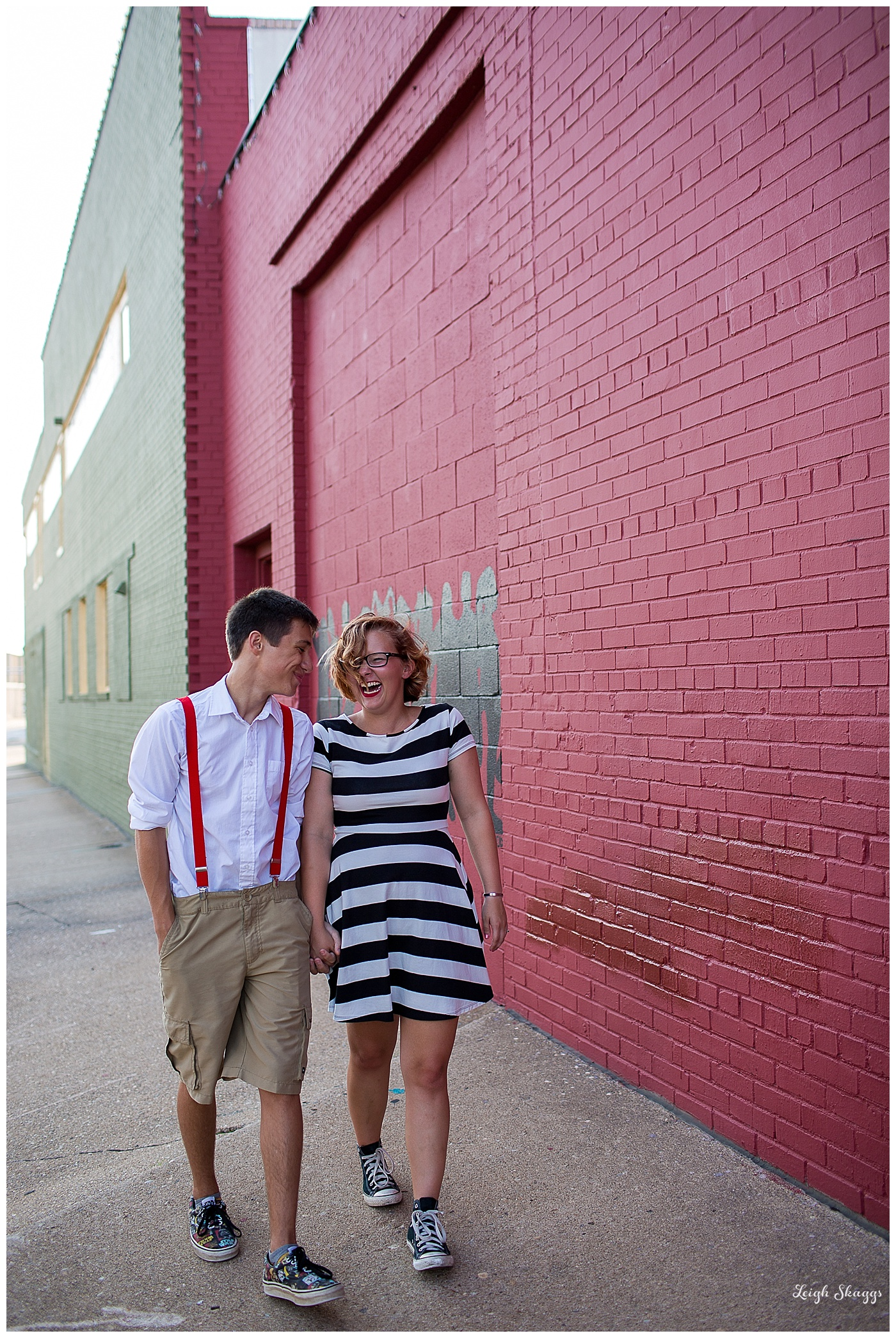 Morgan and Jake in the Norfolk Art District