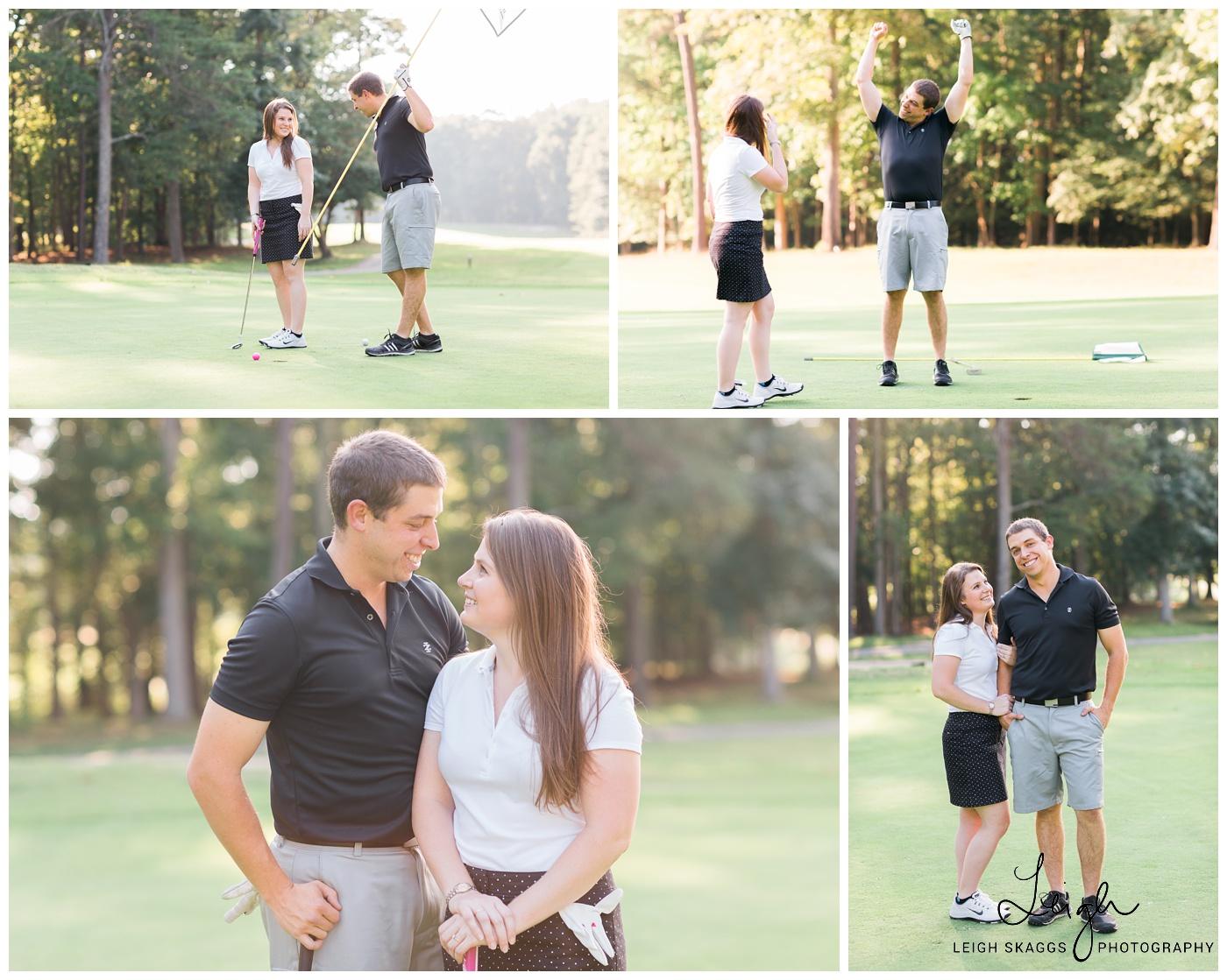 Nicole & Eric   Newport News Golf Club at Deer Run Engagement
