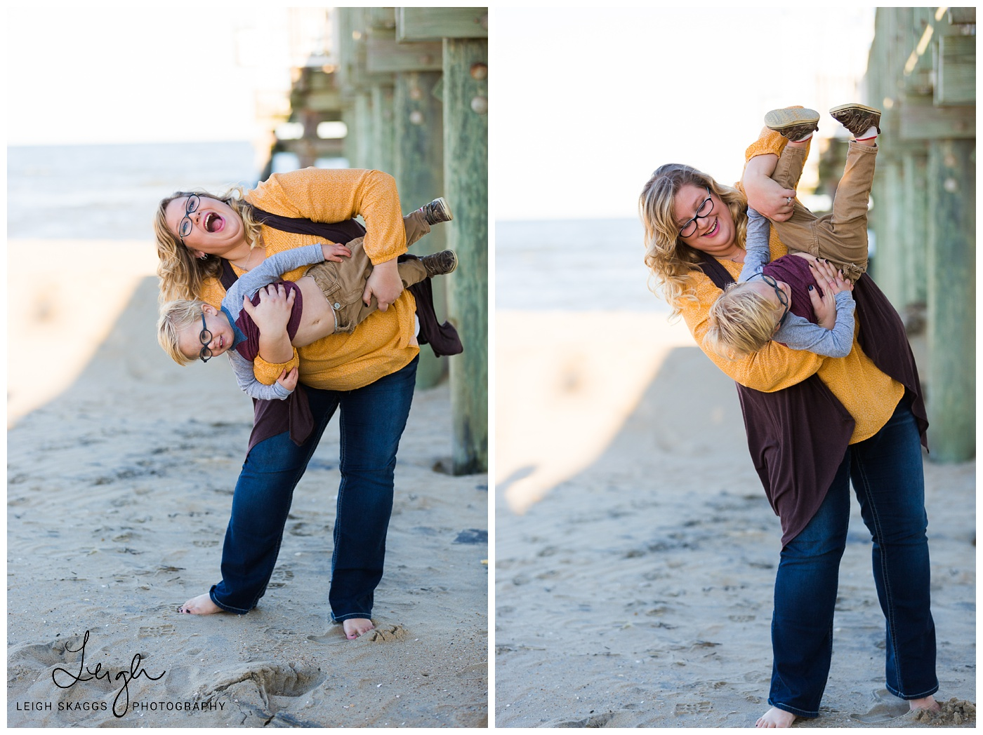 The Thackers and Nana on the Beach | Sandbridge Family Session