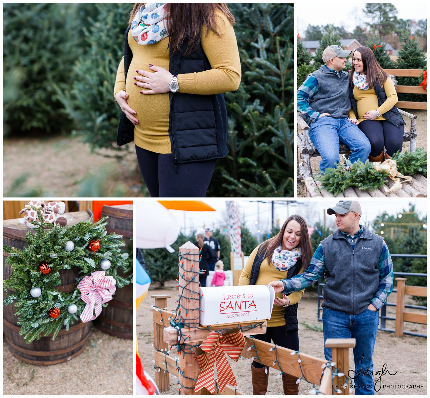 Krista & Andy are having a Baby!! | A Christmas Tree Farm Maternity session