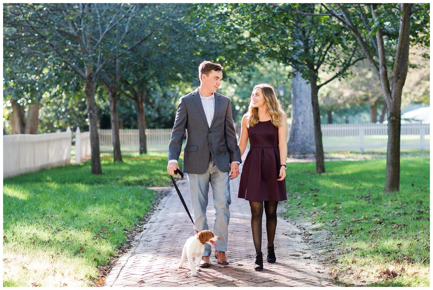Maya & Ryan   Colonial Williamsburg Engagement Session