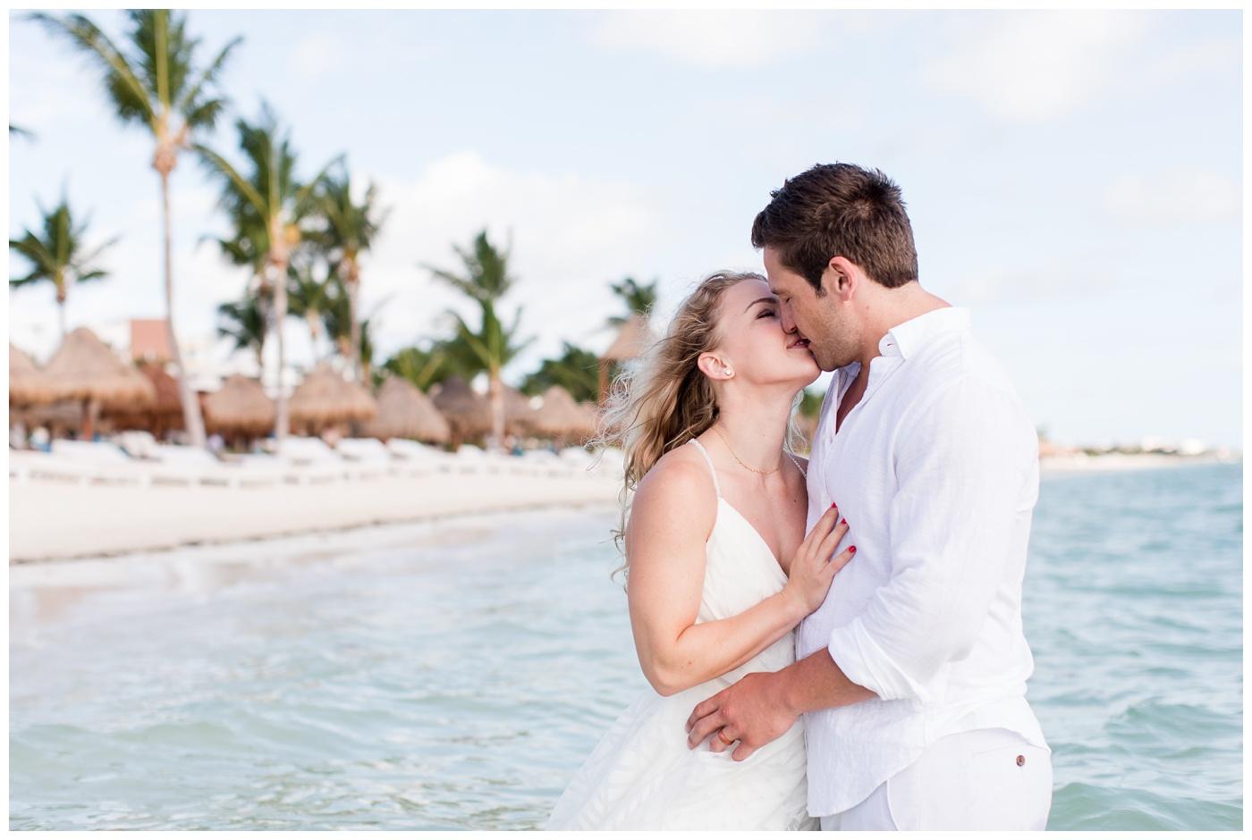 Olivia & Ian | Finest Playa Mujeres Trash the Dress