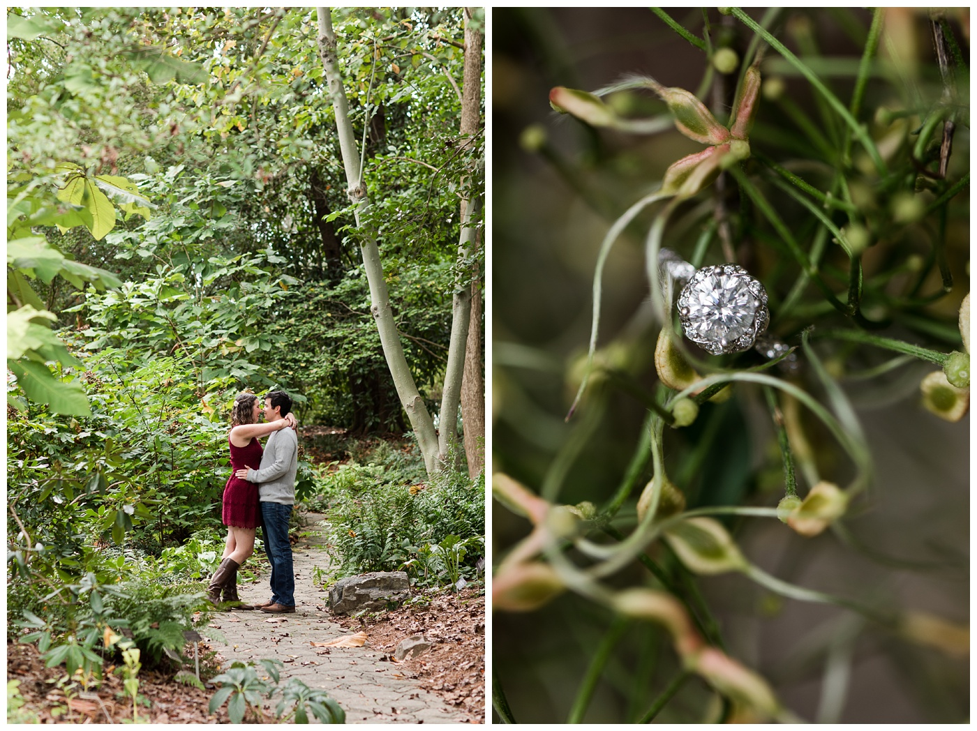 MaryClaire & Julien | Lewis Ginter Botanical Garden Engagement session